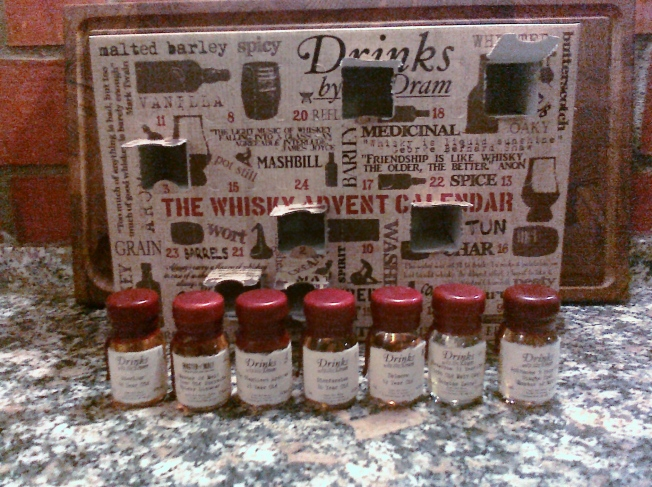 Whisky Advent Calendar - the first 7 days Photo: PK Read