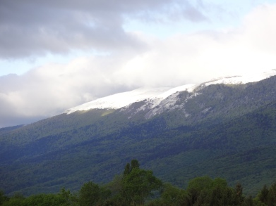 Snow on the Jura ridge, 24 May Photo: PK Read