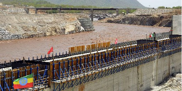 A section of the Blue Nile is diverted in May as Ethiopia prepares to construct a hydro-electric power dam. Source: Business Daily Africa