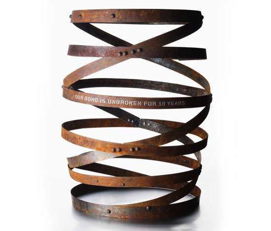 Johnson Banks Barrel Art - Double Helix Source: Johnson Banks