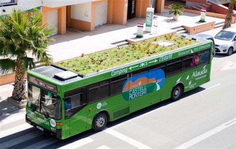 A Phyto Kinetic prototype bus in Girona, Spain. Photo: Phyto Kinetic