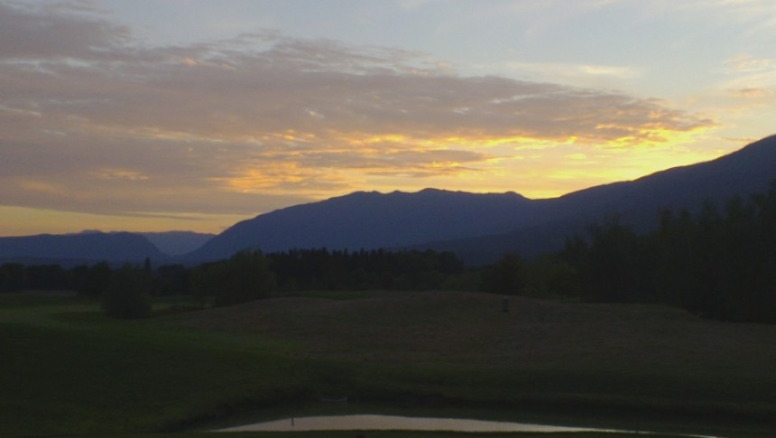 Sunset over the Jura range. Photo: PK Read
