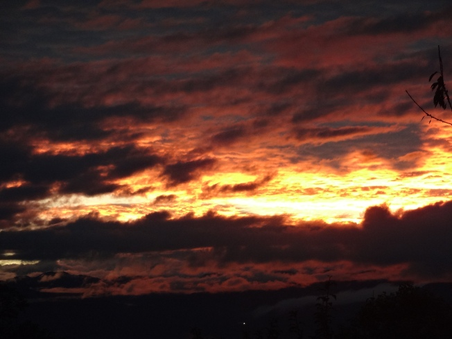 Dawn of a new year (Sunrise over the Alps, from my office window) Photo: PK Read
