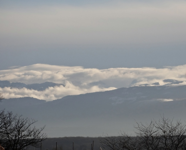 Alps in morning cloud, New Year's Day 2014 Photo: PK Read