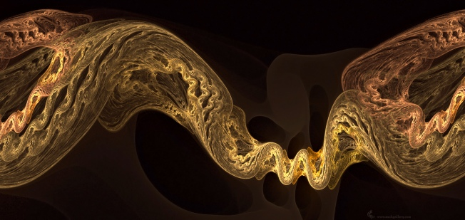 Genetic Code Revisited  Artist: Cory Ench via Fractal World Gallery