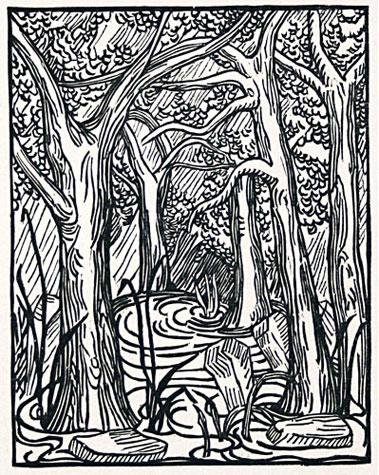 Forest pool Artist: Aristide Maillol via Davidson Galleries