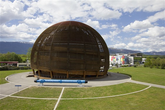 The CERN Globe, an exhibition and lecture hall. Photo: Jean-Claude Rifflard/CERN