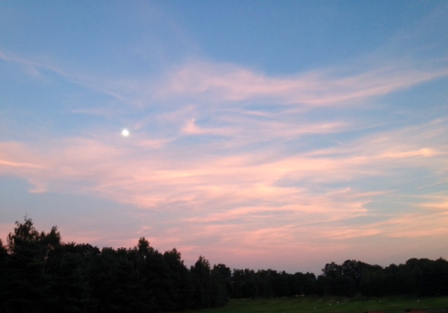 Moonrise (fuzzy!), France All photos: PKR
