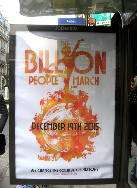 Paris poster Source: Brandalism