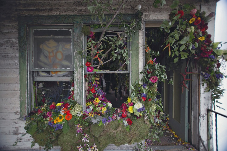 FlowerHouse, a project in Detroit to try and reclaim a ruined home with fresh flowers. All images: FlowerHouse