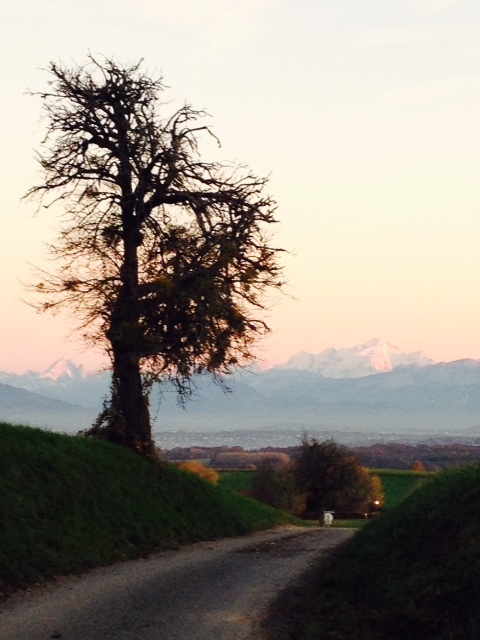 Mont Blanc at sunset. All photos: PKR