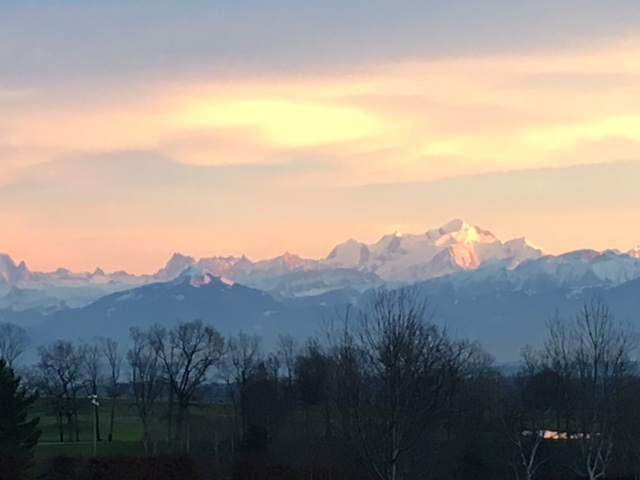 Mont Blanc and Lake Geneva. Photo: PKR