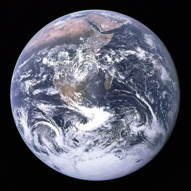 The Blue Marble—Earth as seen by Apollo 17 in 1972. Via: NASA/Wikipedia
